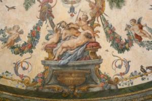 Fresken in der Sala Terrena