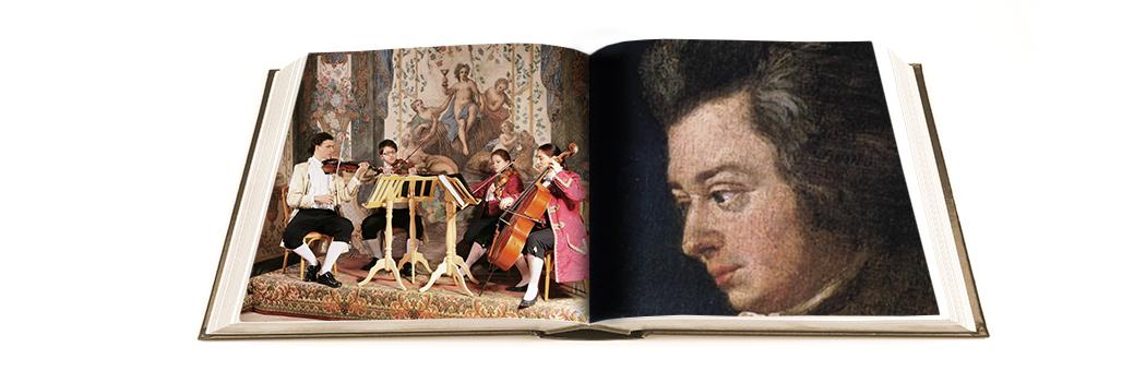 Das Mozart Ensemble im Mozarthaus in Wien - Buchmontage