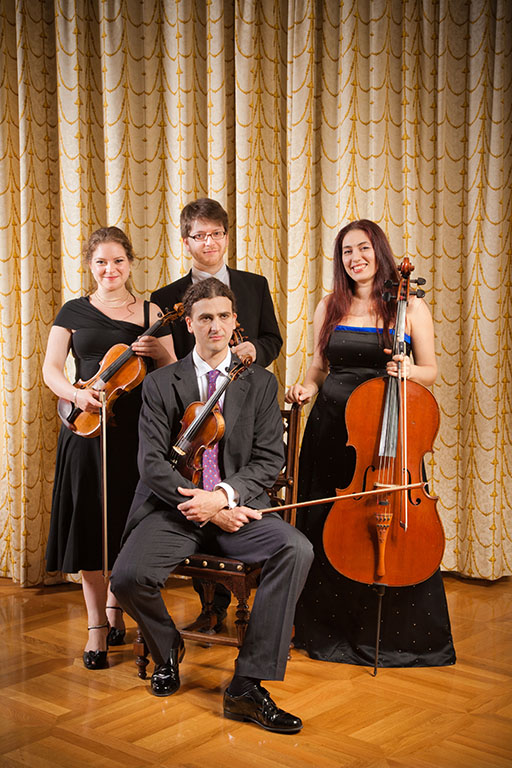 Portrait of the famous string quartet Mozart Ensemble