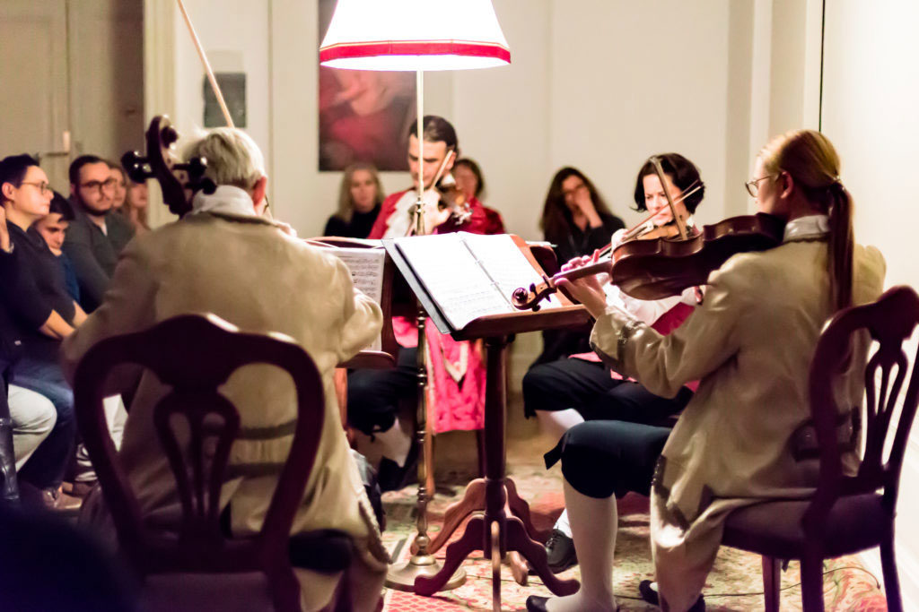 The Mozart Ensemble performing at the Colloredo Hall
